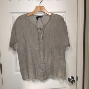 Eileen Fisher Linen Blouse
